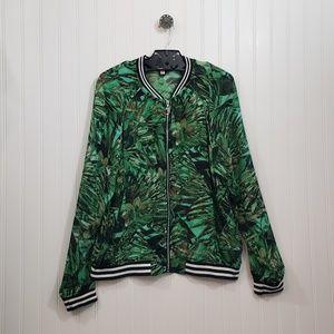 Juicy Couture Sheer Zip Up Jacket Size L